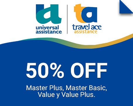 20%off en turista; Master Plues y Europa Plus