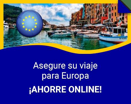 Asegure su viaje para Europa
